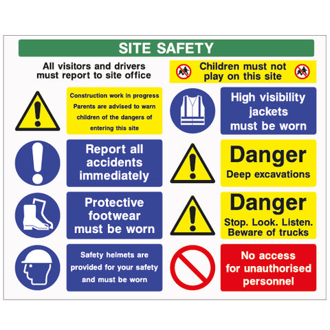 Site Safety Sign D2 - Virus Safety