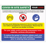 COVID-19 SITE SAFETY SIGN D3 - Virus Safety