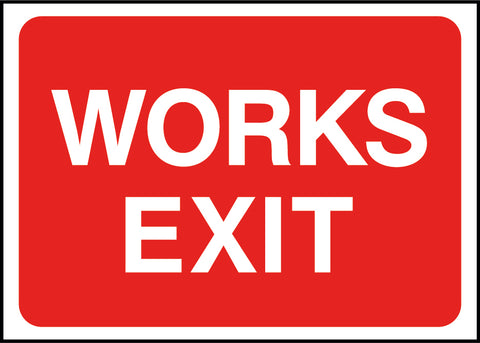 Construction Signs - Works Exit-RTTEMP0018 - Virus Safety