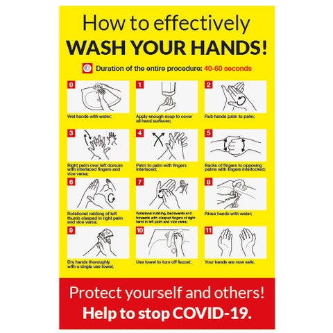 How to wash your hands notice - Covid-19-0021 - Virus Safety