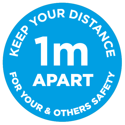 1m Apart - Keep your distance - blue - Virus Safety