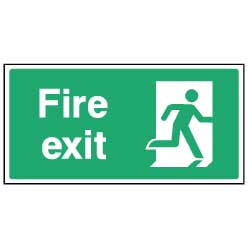 Fire Exit  - emer035 - Virus Safety