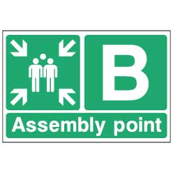 Fire Assembly Point B  - emer088 - Virus Safety