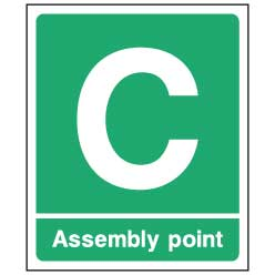 Fire Assembly Point C - EMER092 - Virus Safety
