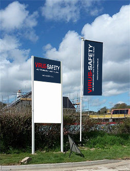 Printed Flags and site advertising signage - Virus Safety
