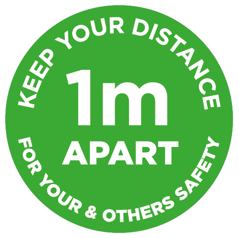 1m Apart - Keep your distance - green - Virus Safety
