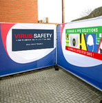 Heras Fencing printed mesh banners - Virus Safety