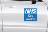 Pair of self adhesive removable car graphics for - NHS Key Workers - Virus Safety