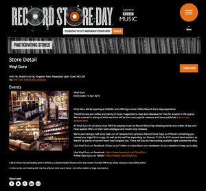 Record Store Day 2016: Info & Stock List