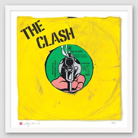 """White Man in Hammersmith Palais"" - The Clash (Limited Edition Print by Morgan Howell)"