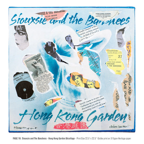 """Never Mind The Punk 45"" - Siouxsie And The Banshees - Hong Kong Garden Décollage (Limited Edition Print Signed by Mal-One)"