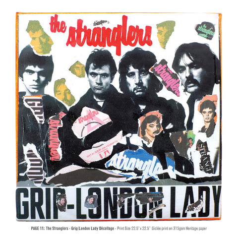 """Never Mind The Punk 45"" - The Stranglers - Grip/London Lady Décollage (Limited Edition Print Signed by Mal-One)"