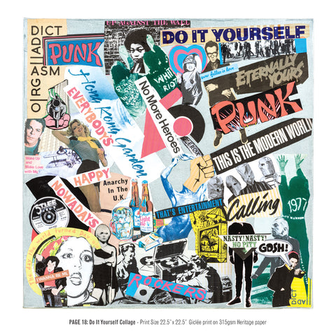 """Never Mind The Punk 45"" - Do It Yourself Collage (Limited Edition Print Signed by Mal-One)"