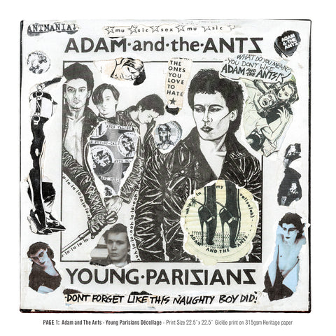"""Never Mind The Punk 45"" - Adam & the Ants - Young Parisians Décollage (Limited Edition Print Signed by Mal-One)"