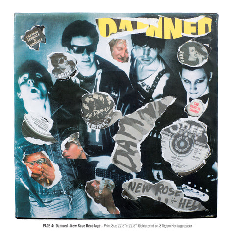 """Never Mind The Punk 45"" - The Damned - New Rose Décollage (Limited Edition Print Signed by Mal-One)"