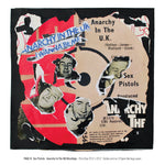 """Never Mind The Punk 45"" - Sex Pistols - Anarchy in the UK Décollage (Limited Edition Print Signed by Mal-One)"