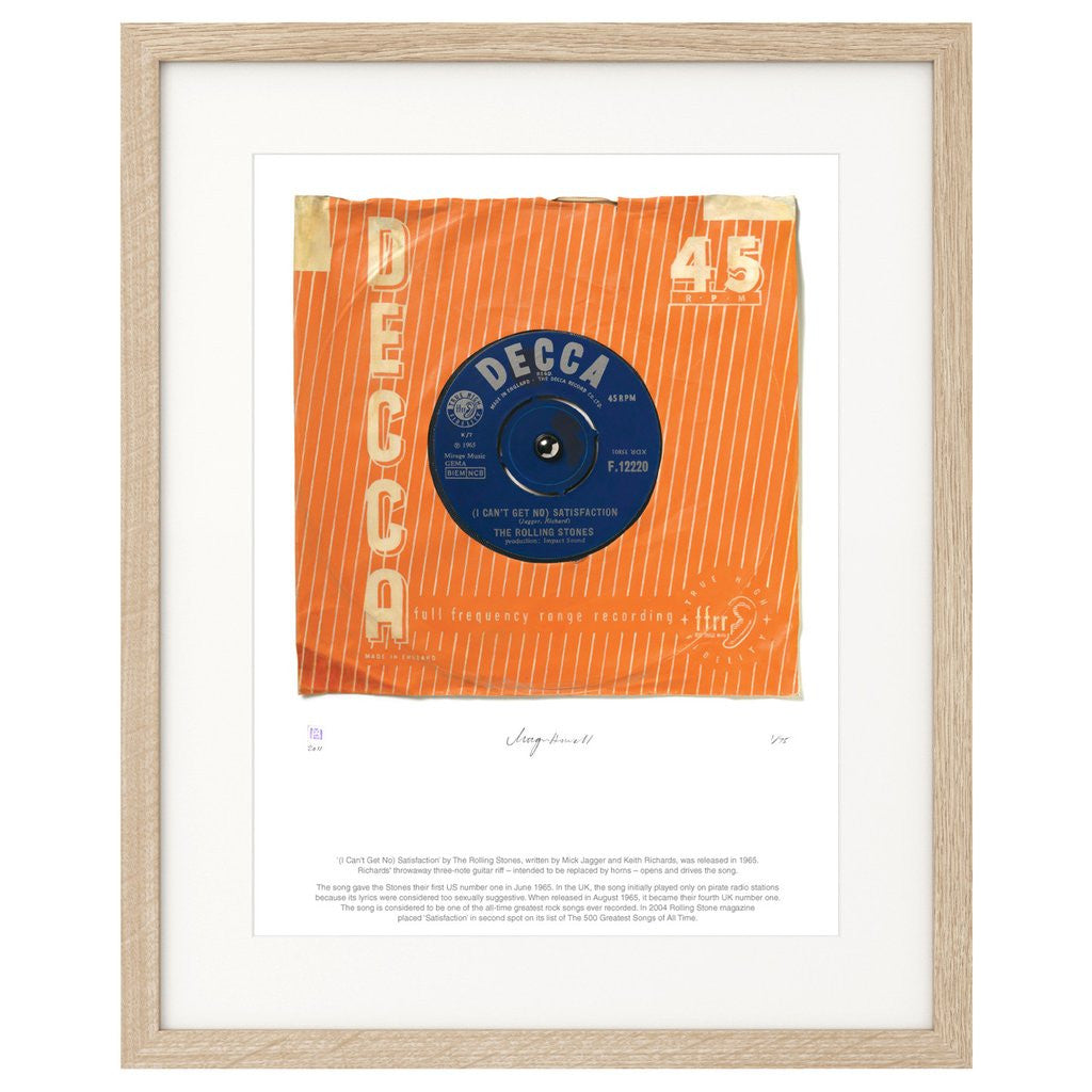 """""""(I Can't Get No) Satisfaction"""" - The Rolling Stones (Limited Edition Print  by Morgan Howell)"""