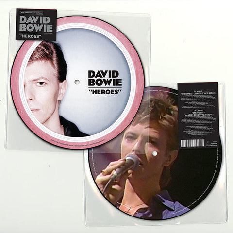 "David Bowie - Heroes (Limited Edition 40th Anniversary Picture Disc 7"" Vinyl)"