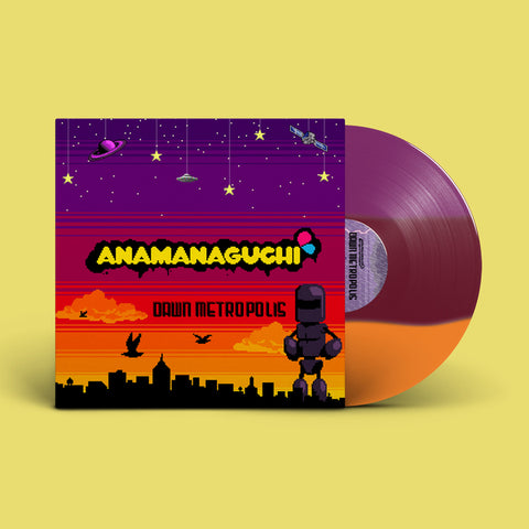 "Anamanaguchi - Dawn Metropolis [New 1x 12-inch ""Sunset Hues"" Orange/Maroon/Purple Vinyl LP]"