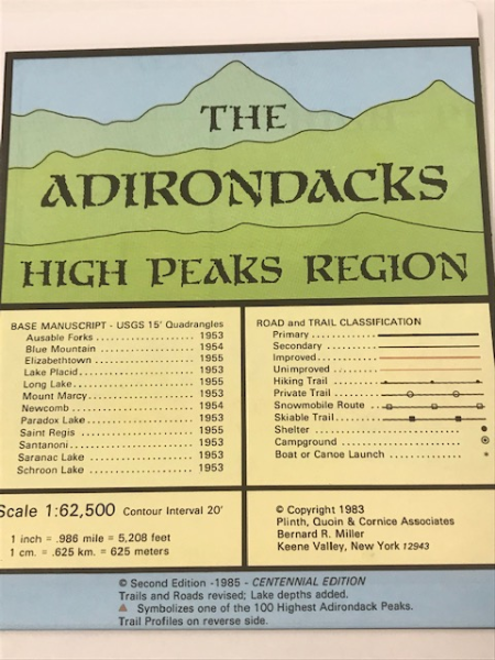 Map, The Adirondacks High Peaks Region