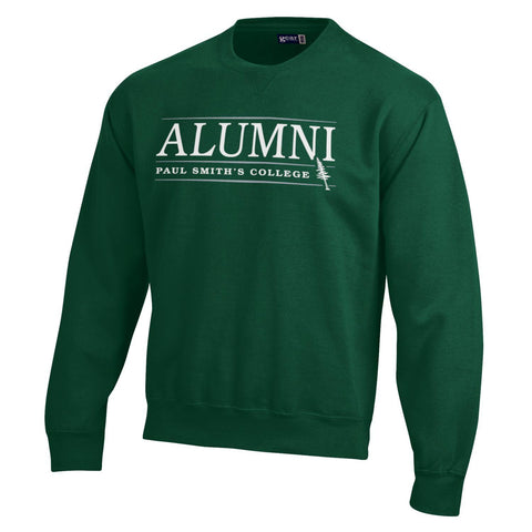 Alumni sweatshirt, cotton blend, dark green