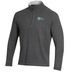 Mens quarter zip sweater, oatmeal or charcoal heather