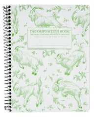 Composition Notebooks, 100% post consumer waste recycled paper, heavy board, and manufactured in the USA