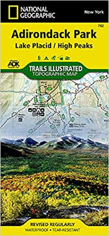 Map, National Geographic Map -- Adirondack Park, Lake Placid/High Peaks