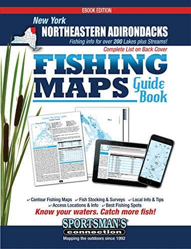 New York Northeast Adirondacks Fishing Map Guide Book