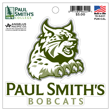 "Bobcat Sticker, 4.5""  by 4.5"""