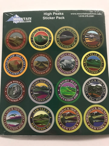 Adirondack High Peaks Sticker Pack