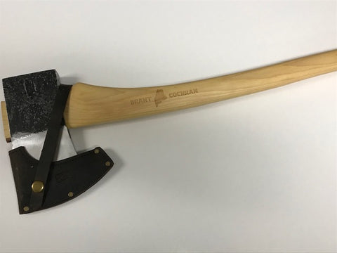AXE,  2.5 lb. Maine wedge, Allagash Cruiser with PSC logo hot stamped on AXE head