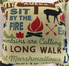Balsam Pillows, Camping,  Chickadee, Cranberry, Fall Leaves, Lantern