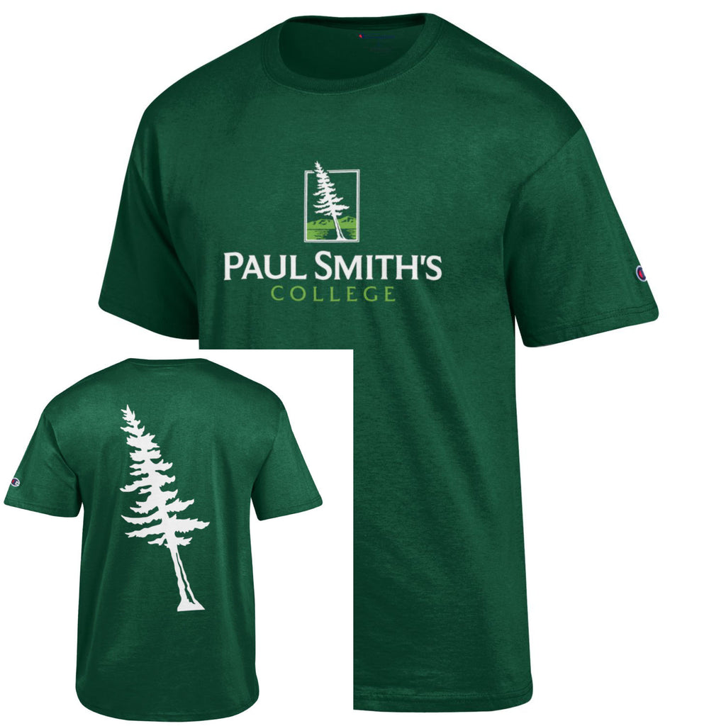 Short Sleeve T-Shirt, tree on back, dark green