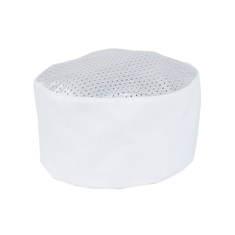 Culinary Skull Cap, one size adjustable,  white