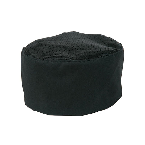 Culinary skull cap, one size adjustable, black