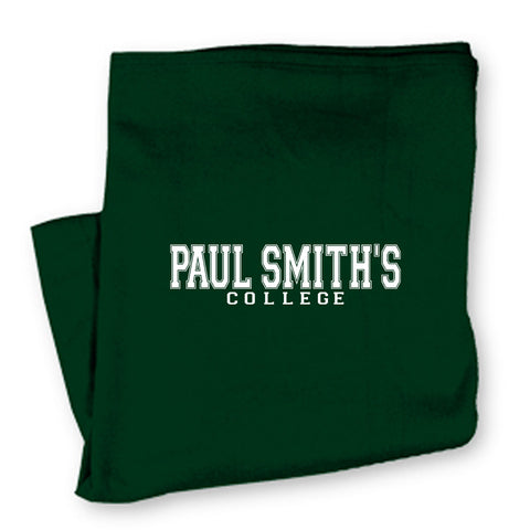 Blanket sweatshirt material, with PSC imprint,  rolled and tied. Many colors available. 40 inches by 52 inches