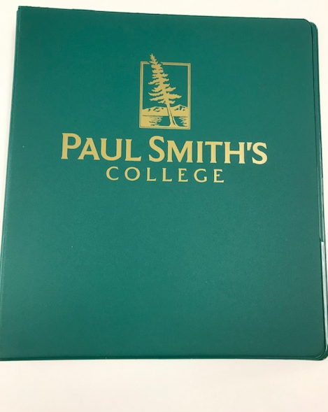 "PSC three ring binder, green or black. 1"" or 1.5"""