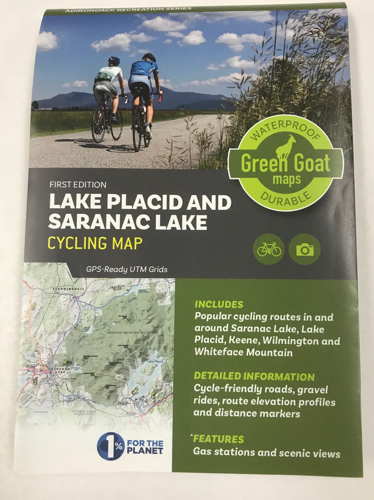 Map, Cycling Lake Placid and Saranac Lake