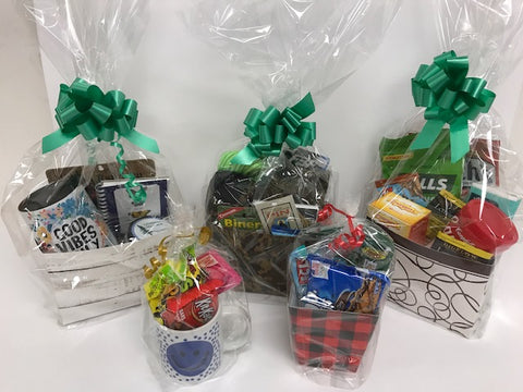 Gift baskets for special occasions. Birthday, Get Well, PSC, Miss You, Love.   Student may pick up their gift basket at the bookstore.