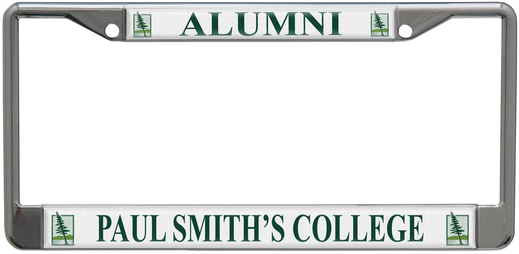 License plate frame for alumni