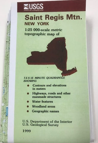 Map, St. Regis Mountain, USGS. - required for Introduction to Forestry