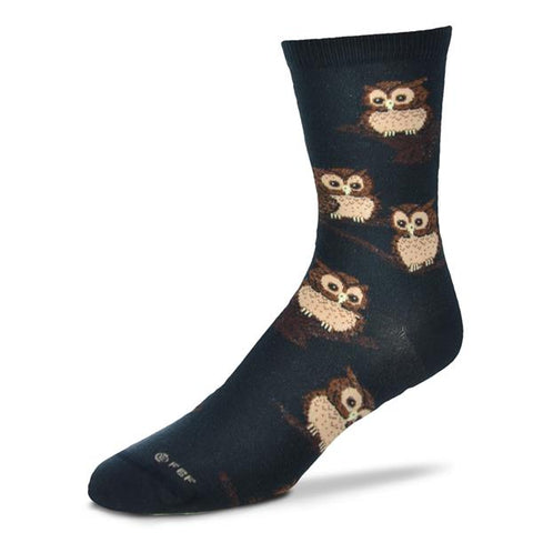 Socks, Ladies Medium, Owls