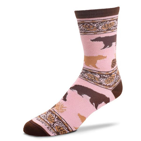 Socks, Ladies Medium, Pink Bear