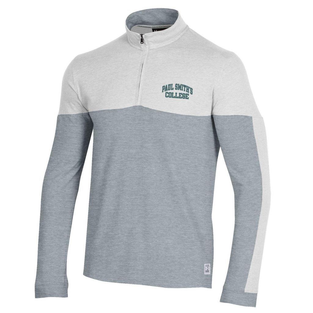 Under Armour, Long Sleeve Quarter Zip. Cotton Poly Blend.
