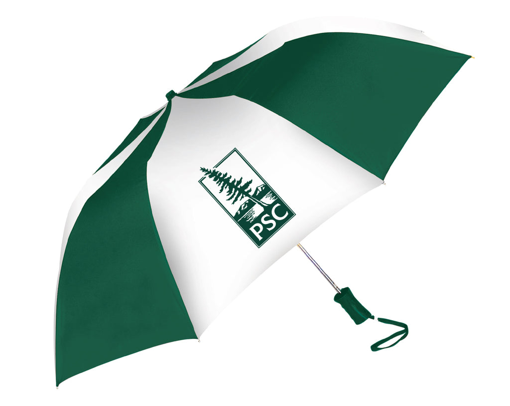 Umbrella, green and white