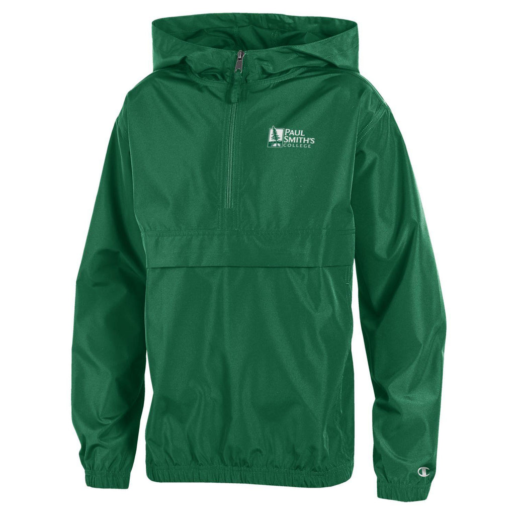 Youth Windbreaker, by Champion, dark green