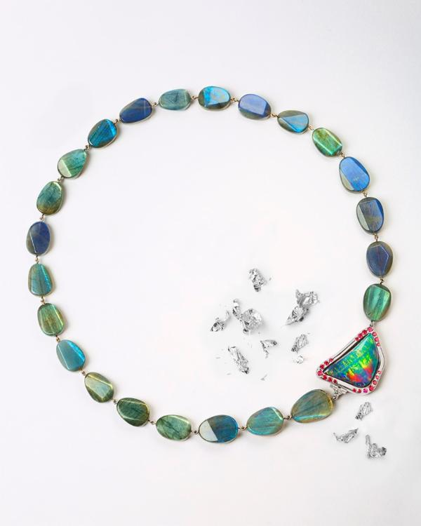 Opal and Labradorite Statement Necklace