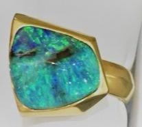 Opal Cubed Ring