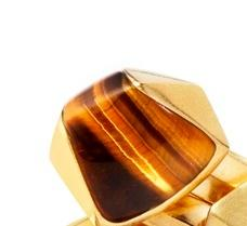 Tiger's Eye Cubed Ring